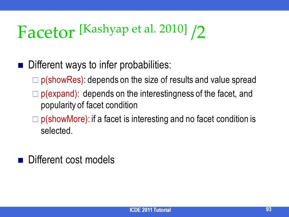 Facetor [Kashyap et al. 2010] /2